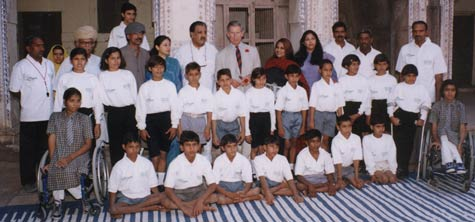 Prince Charles with the Maharaja and the Princess of Jodhpur